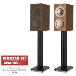 KEF R3 WALNUT diffusori da scaffale High End 3 Vie Bass Reflex Uni-Q