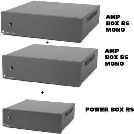 Pro-ject KIT AUDIOPHILE: 2x AMP BOX RS MONO finali con stadio PRE valvolare + POWER BOX RS stadio alimentazione dedicato
