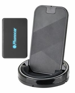 Phonocar VM382 Caricabatteria a induzione da portabicchiere Universale per Smartphone con Powerbank portatile