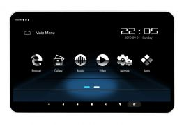 """Phonocar VM156 Monitor multimediale 12.5"""" poggiatesta e APP Ready, WI-FI, Bluetooth e Router"""