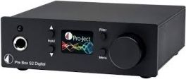 Pro-ject PRE BOX S2 DIGITAL BLACK Preamplificatore stereo digitale con convertitore D/A
