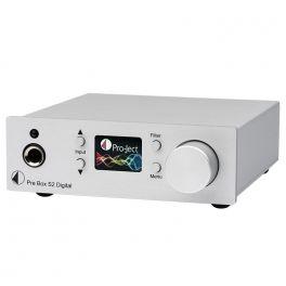 Pro-ject PRE BOX S2 DIGITAL SILVER Preamplificatore stereo digitale con convertitore D/A.