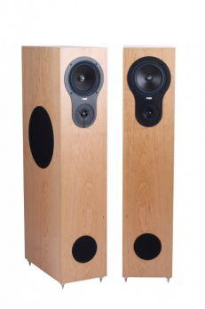 Rega RX5 diffusori da pavimento Ciliegio COPPIA a 2,5 vie reflex frontale bass driver laterale
