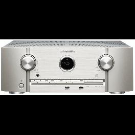 Marantz SR6014 Sintoamplificatore AV a 9.2 Canali 4K Ultra HD, silver,oro, tecnologia HEOS 110 W/canale