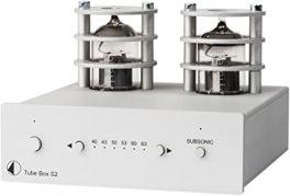 Pro-ject TUBE BOX S2 Stadio fono MM/MC a valvole, Circuitazione Dual-Mono a componenti discreti, SILVER