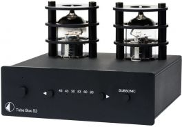 Pro-ject TUBE BOX S2 Stadio fono MM/MC a valvole, Circuitazione Dual-Mono a componenti discreti, NERO