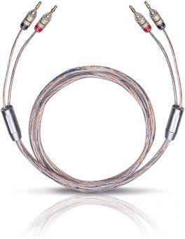 OEHLBACH 10716 Twin Mix One B Set di cavi per altoparlanti Hi-fi con connettori a banana 2x2,00MT