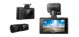 Pioneer VREC-DH300D Telecamera Dashcam 2 canali (anteriore & posteriore), WQHD, 27 fps Ampio angolo di visione di 135°. Sensore CMOS di Sony